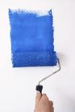 Azul de pintura Imágenes de archivo libres de regalías