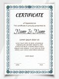 Azul de Potrait do certificado ilustração do vetor