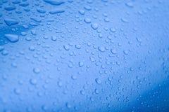 Azul de Waterdrops Fotos de Stock