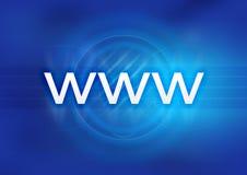 Azul de WWW Fotografía de archivo libre de regalías