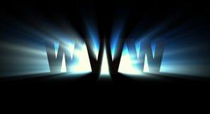 Azul de WWW Imagen de archivo libre de regalías