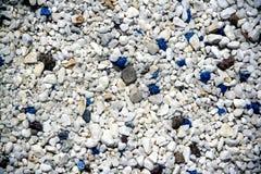 Azul decorativo e branco das pedras. Imagens de Stock Royalty Free