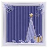 Azul del backround del eco de la Navidad Fotos de archivo libres de regalías
