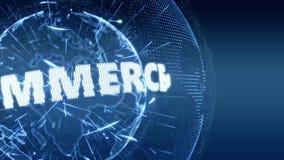 Azul del bromista de la introducción de Internet del comercio electrónico de las noticias de mundo ilustración del vector