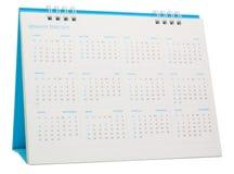 Azul del calendario de escritorio 2015 Foto de archivo libre de regalías