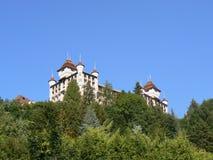 Azul del castillo y de cielo fotos de archivo