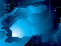 Azul del circuito eléctrico ilustración del vector