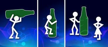 Azul del concepto de la bebida Foto de archivo