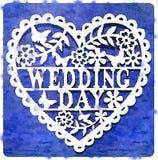 Azul del día de boda de DW stock de ilustración