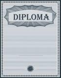 Azul del diploma Foto de archivo libre de regalías
