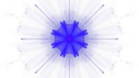 Azul del diseño del arte de Digitaces vibrante en el fondo blanco libre illustration