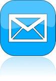 Azul del email del icono, ilustración Fotografía de archivo libre de regalías