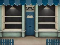 Azul del escaparate. Foto de archivo