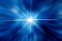 Azul del extracto con la flama Fotos de archivo