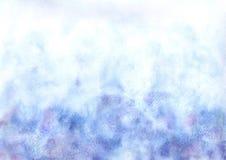 Azul del fondo de la acuarela fotos de archivo