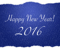 Azul del fondo de la Feliz Año Nuevo de la Feliz Navidad, nieve Foto de archivo