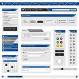 Azul del marco del modelo del elemento del diseño de Web Foto de archivo libre de regalías