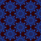 Azul del marrón de la mandala del modelo Foto de archivo libre de regalías