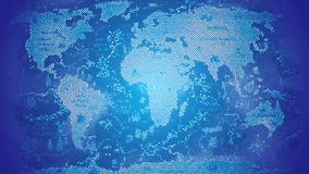 Azul del mosaico del mapa del mundo Imágenes de archivo libres de regalías