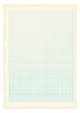 Azul del papel de gráfico de Grunge a4 Imagen de archivo