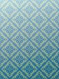 Azul del papel pintado del damasco Fotos de archivo libres de regalías