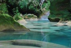 Azul del río Fotografía de archivo libre de regalías
