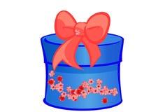 Azul del regalo de Navidad Imágenes de archivo libres de regalías