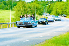 Azul del taxi 1968 del electra 225 de Buick foto de archivo