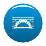 Azul del vector del icono del horno del ladrillo stock de ilustración