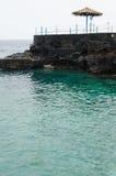 Azul di charco di EL, stagno blu, isola di Palma della La, Spagna Immagini Stock