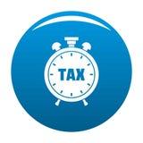 Azul do ícone do imposto do tempo ilustração royalty free