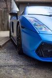 Azul do carro desportivo Fotos de Stock