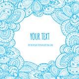 Azul do cartão da nuvem Imagens de Stock Royalty Free