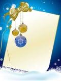 Azul do cartão de Natal Fotografia de Stock Royalty Free