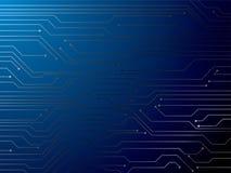 Azul do circuito ilustração stock