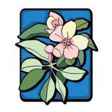 Azul do clipart da árvore de Apple Imagem de Stock