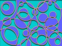 Azul do entalhe dos círculos Imagem de Stock