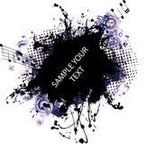 Azul do frame do grunge da música ilustração royalty free