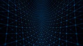 Azul do fundo da grade da distorção ilustração royalty free