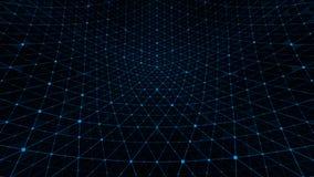 Azul do fundo da grade da distorção ilustração do vetor