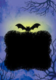 Azul do fundo de Dia das Bruxas ilustração do vetor
