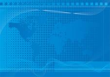 Azul do fundo do mundo Fotos de Stock