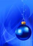 Azul do fundo do Natal Imagem de Stock