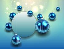 Azul do fundo do Natal Imagens de Stock Royalty Free