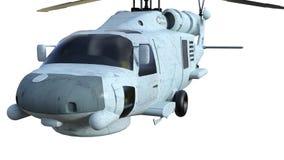 Azul do helicóptero do salvamento do transporte da vista dianteira Imagens de Stock Royalty Free