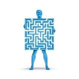 Azul do homem do labirinto Imagens de Stock