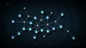 Azul do mapa de rede dos povos ilustração do vetor