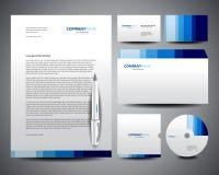 Azul do molde dos artigos de papelaria do negócio Imagens de Stock