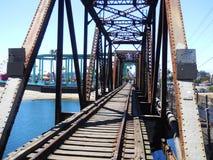 Azul do passeio à beira mar da praia de Santa Cruz do cavalete Fotografia de Stock