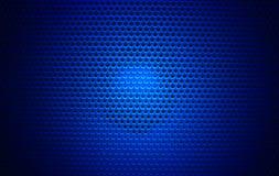 Azul do preto da textura da grade do orador fotos de stock royalty free